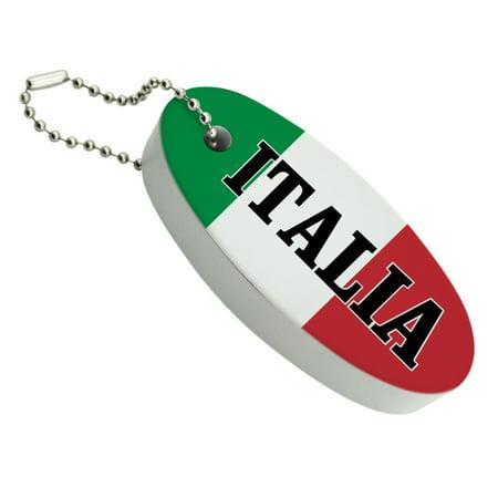 Italia Italy Italian Flag Floating Foam Keychain Fishing Boat Buoy Key Float