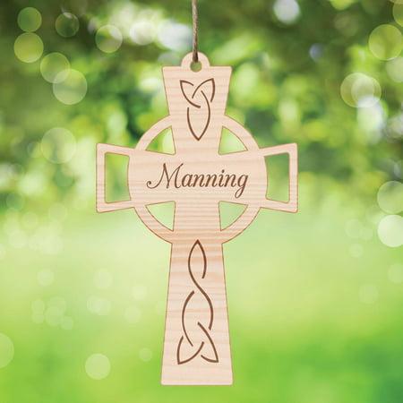 Personanlized Wood Celtic Cross Keepsake