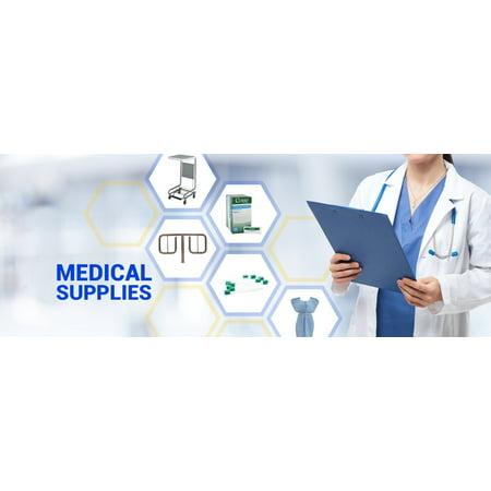 D-039-18-02 D-039-18-02 D-039-18-02 Lab Jacket Staff Lgth MedFlex Premium Unisex Light Blue Sm 10/Pk First Medica Staff Lab Coat