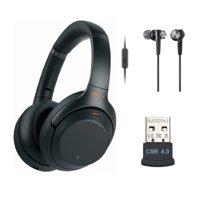 Sony WH-1000XM3 Wireless Noise-Canceling Over-Ear Headphones (Black) Bundle