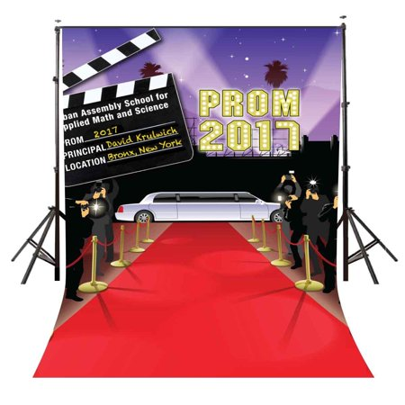 GreenDecor Polyster Cartoon Photo Background 5x7ft Red Carpet Photography Backdrop Kids Prom Studio Prop - Prom Backdrops