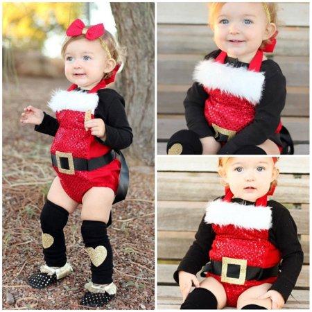 Christmas Halloween Newborn Baby Girls Cotton Bodysuit Romper Jumpsuit Sleeveless Clothes Outfits](Newborn Halloween Photo Ideas)