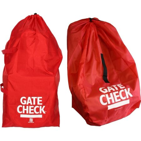 J L Childress Gate Check Bags For Standard Double Strollers And Car Seats Red