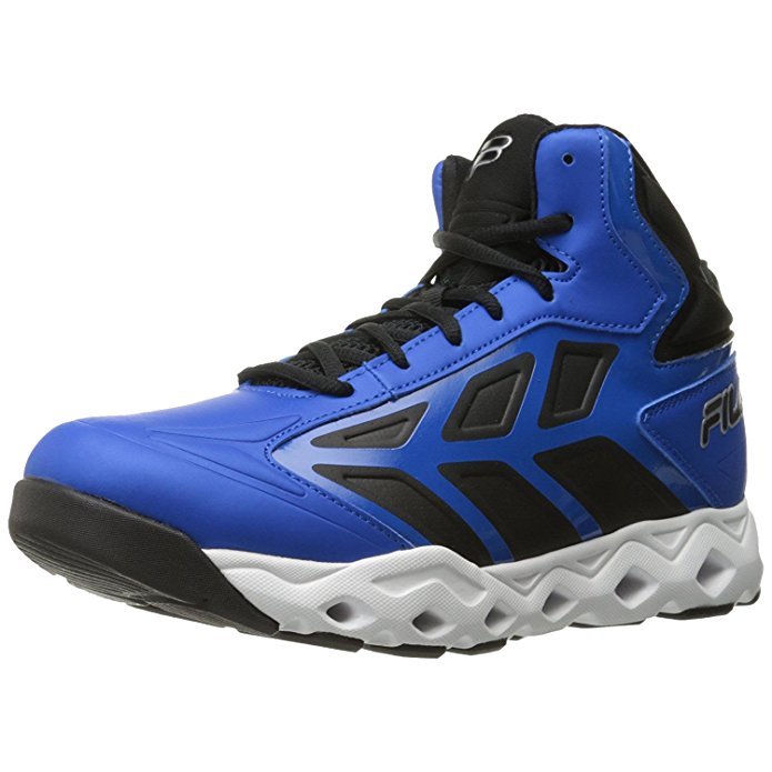 Fila TORRANADO Mens High Top Athletic Basketball Sneakers Shoes Black Blue by