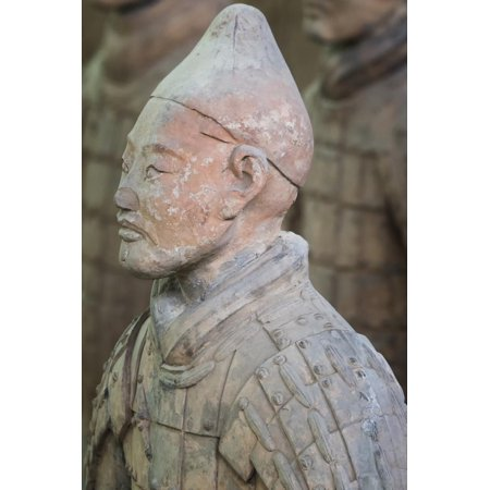 Bust of a Terracotta Warrior, Mausoleum of the First Qin Emperor, Xian, Shaanxi Province, China Print Wall Art By G & M Therin-Weise