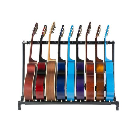 Zimtown 3 5 7 9 Triple Folding Multiple Guitar Bass Holder Rack Stand