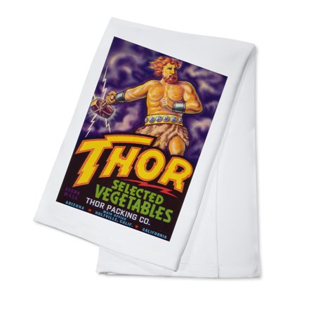 Thor Vegetable Label  100  Cotton Kitchen Towel