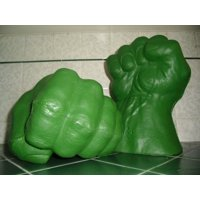 Canvas Print Hands Incredible Fights Toys Hulk Fists Fun Stretched Canvas 32 x 24