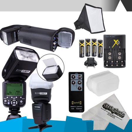 DigitalMate SB680 E-TTL Flash Kit & more for CANON DSLR Rebel T6i, T6s,T5i, T4i, T3i, T2i, T1i, T5, T3, XT, XSi, XS,