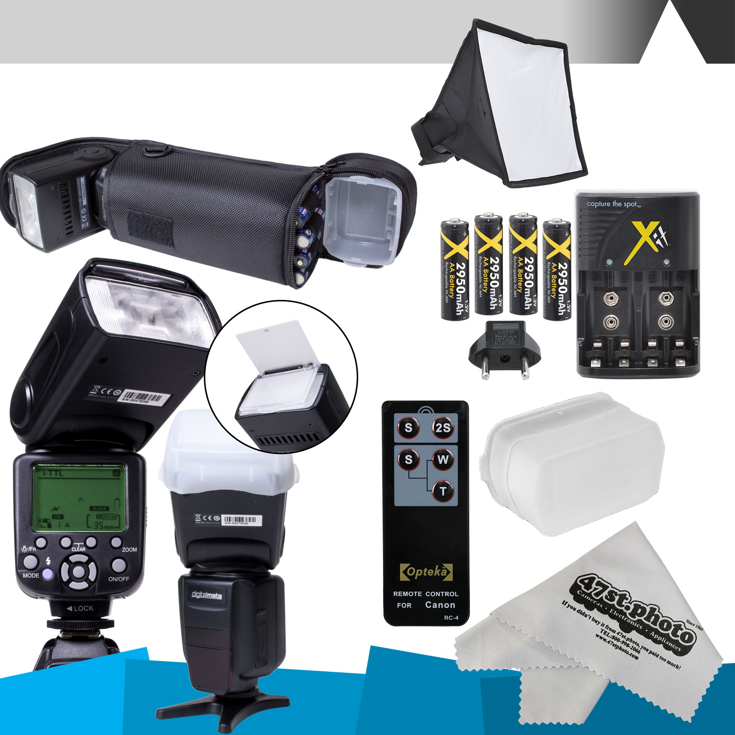 DigitalMate SB680 E-TTL Flash Kit & more for CANON DSLR Rebel T6i, T6s,T5i, T4i, T3i, T2i, T1i, T5, T3, XT, XSi, XS, EOS