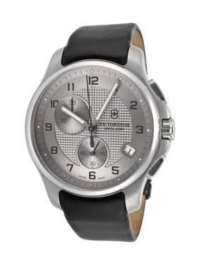 Victorinox Swiss Army Men's Classic Officer Chronograph Leather Strap Watch 241553