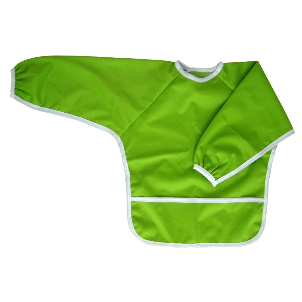 Ecoable Art Smock for Kids - Long Sleeve Bib or Paint Smock for Kids (Large 4-6 Years, Zebra)