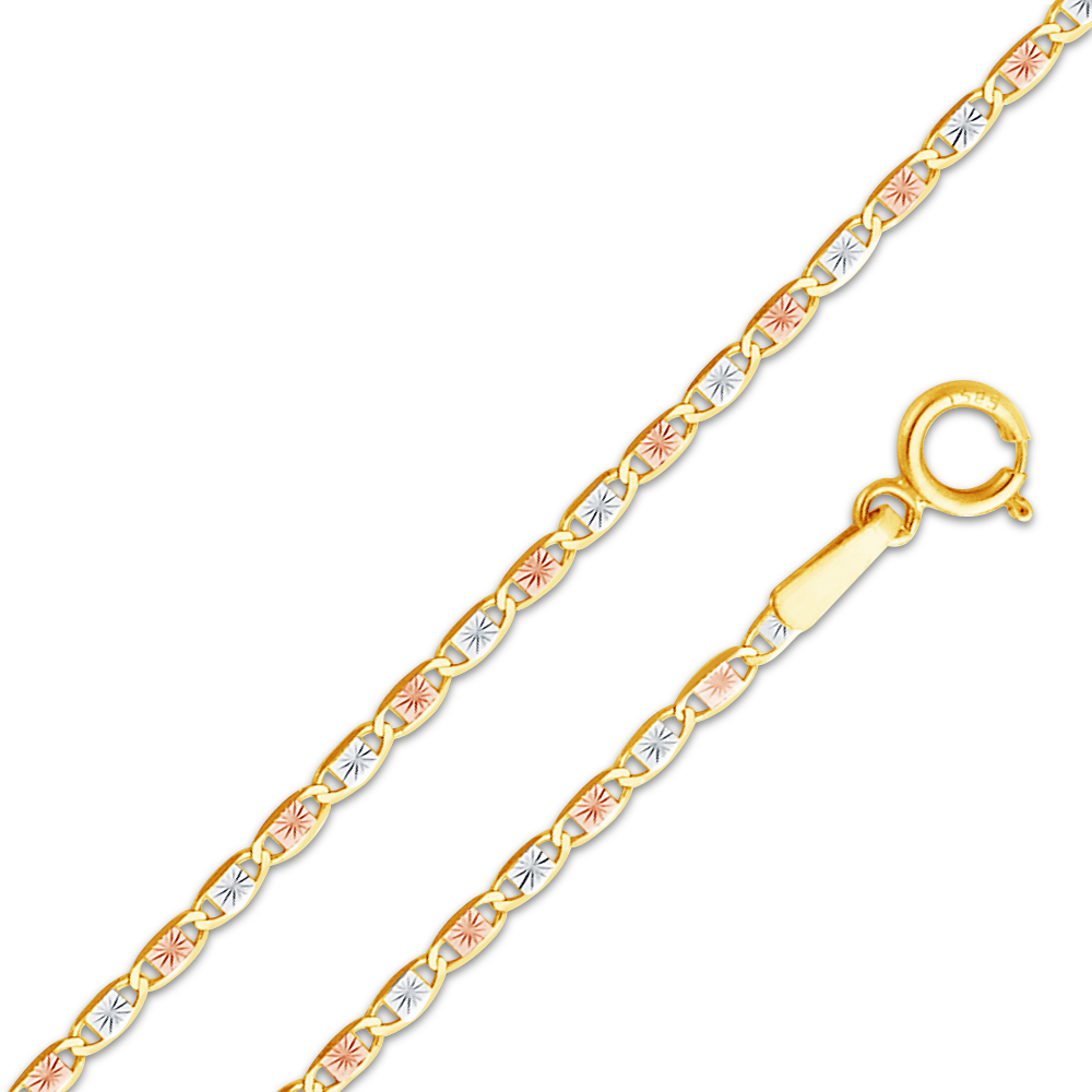 Precious Stars 14k White Gold 1.6-mm Bevelled Diamond-cut Cable Pendant Chain Necklace