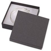 Bags & Bows by Deluxe 52-030301-12KR Black Kraft Jewelry Boxes - Case of 100