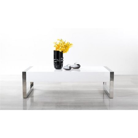 Jandm furniture 17946 modern coffee table luxury - Table basse baroque blanche ...