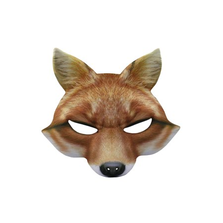 Fox Half Mask Realistic Look Soft Foam Face Mask Halloween Costume Accessory