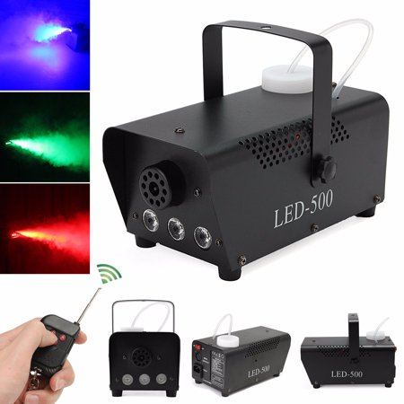 Fog Smoke Machine- 400W RGB LED Wireless Smoke Machine with Remote Control Live Concert DJ Disco Laser Light Club Stage (Just Machine) - Party Fog Machine