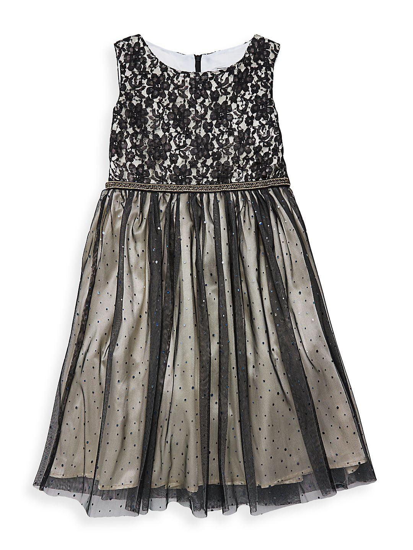 Girl's Emma Sleeveless Floral Organza Dress