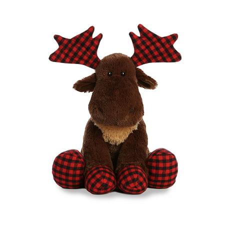 Lumberjack Moose 14 inch - Stuffed Animal by Aurora Plush
