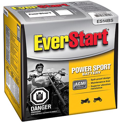 EverStart PowerSport Battery, Group Size ES14BS