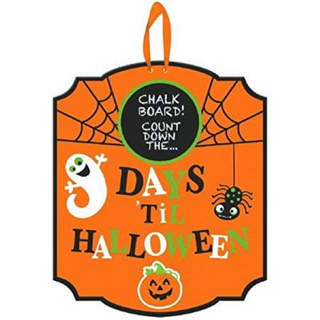 Amscan Halloween Countdown Chalkboard Sign](Halloween Count Down)