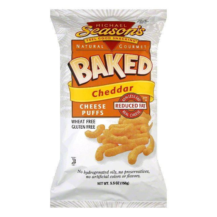 Michael Season's Gluten Free Cheese Puffs Lite Cheddar, 5.5 OZ (Pack of 12)