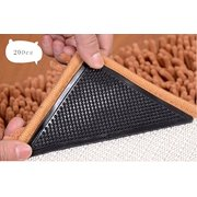 Idea2go 20 Pcs Rug Carpets Grippers Reusable Washable Non Slip Grip Corners Pad Black 63