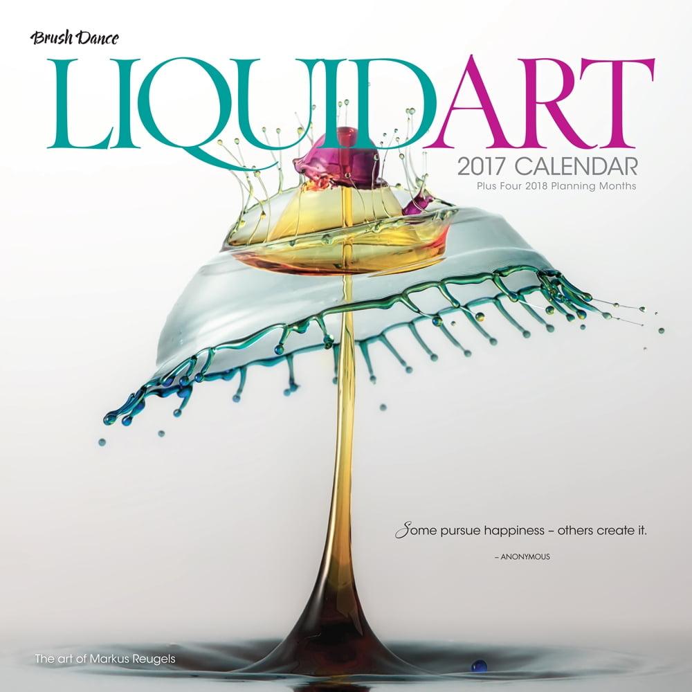 Liquid Art Wall Calendar, 2017 Modern | Pop Art by Brush Dance