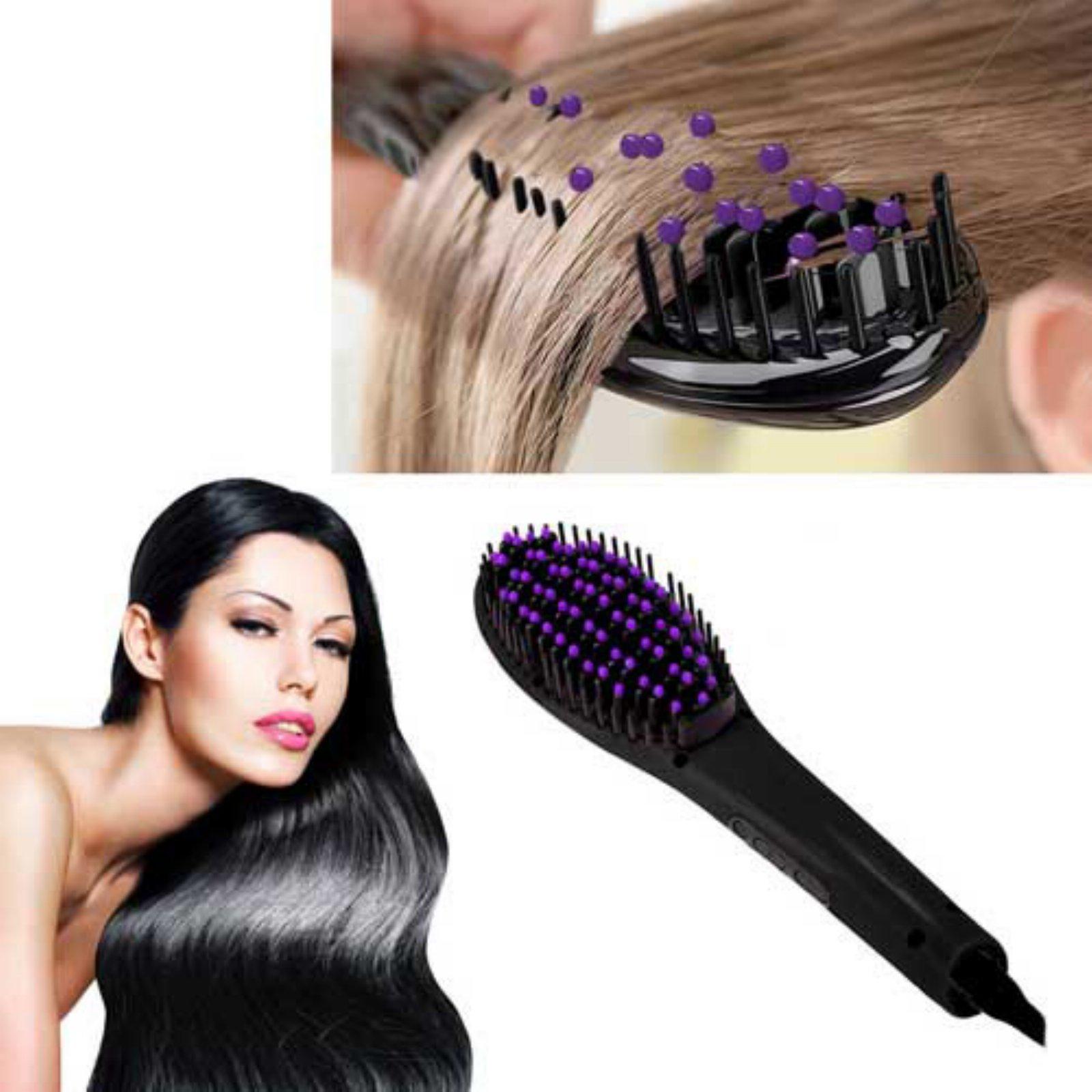 Z-Comfort Extreme LED 450 Degree Straightening Detangling Hair Brush