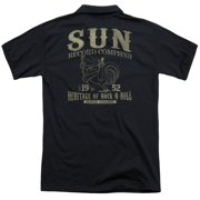 Sun Records Rockabilly Bird (Back Print) Mens Polo Shirt