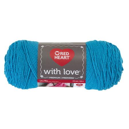 Red Heart With Love Acrylic Blue Hawaii Yarn, 1 Each