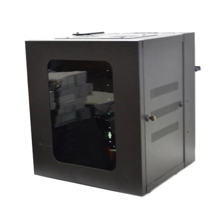 HSQ24 Genuine Original Hubbell Quadcab Wall Mounted Cabinet Enclosure With Fans Server Rack Cabinets - Used Very Good