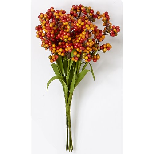 The Holiday Aisle Fall Berry Mini Bush Flowering Branch (Set of 3)
