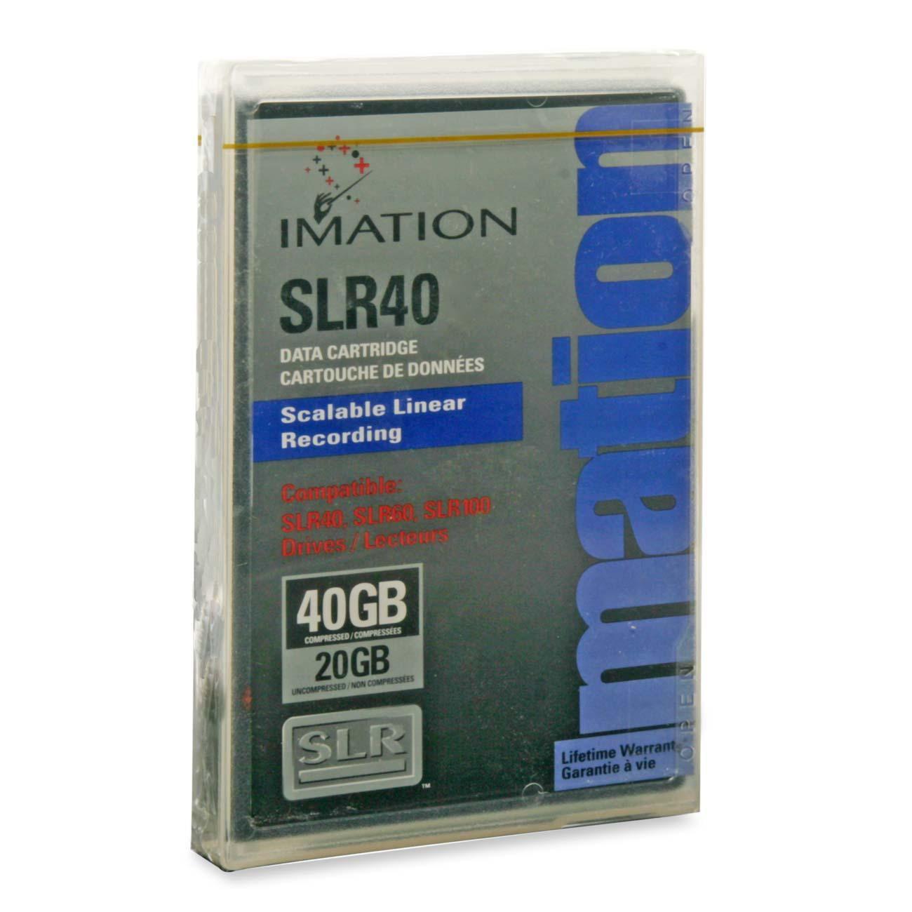 Imation Slr40 Tape Cartridge - Slrtape40 - 20 Gb [native] / 40 Gb [compressed] - 615 Ft Tape Length - 1 Pack (41112_34)