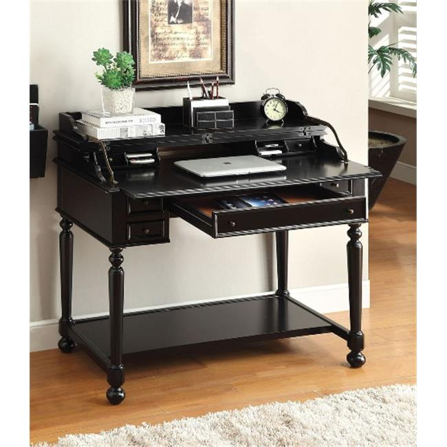 Furniture Of America IDF DK6223BK Lexden Secretary Desk With Fold Out  Writing Tray In