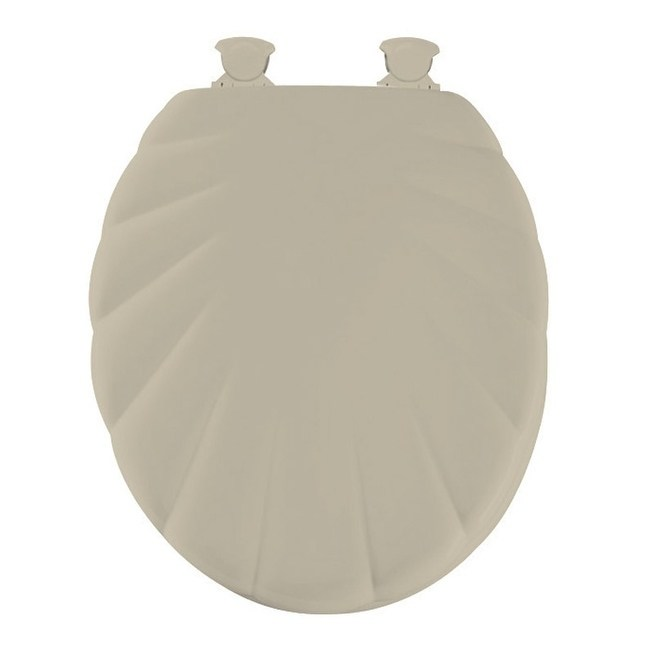 Mayfair Round Enameled Wood Seat Toilet Design Shell In