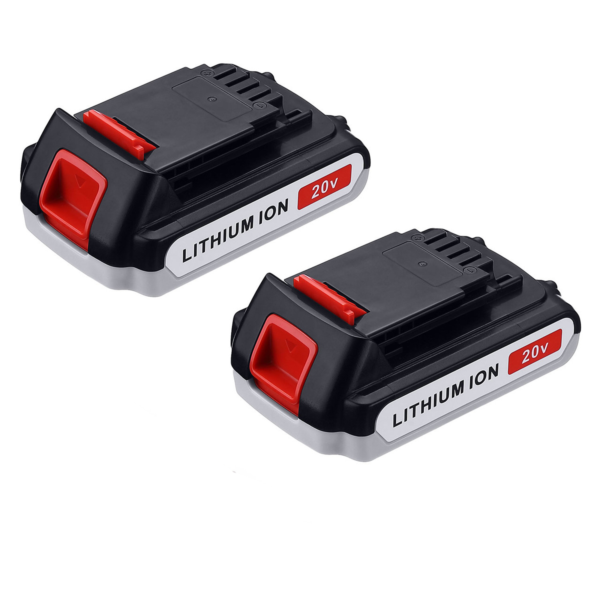 Powerextra 2-Pack 20v 2500mAh Replacement Battery for Black&Decker LBXR20 LB20, LBX20 Cordless Power Tools Black and Decker Lithium 20 Volt Batteries - Upgraded