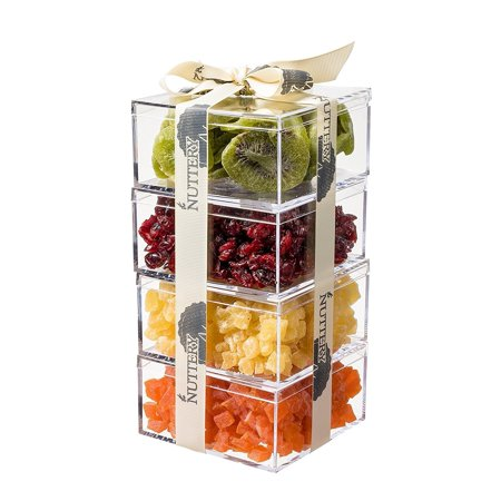 - The Nuttery Premium Dried Fruit Gourmet Gift Tower ~ Kiwi ~ Cranberry ~ Pineapple ~ Papaya ~