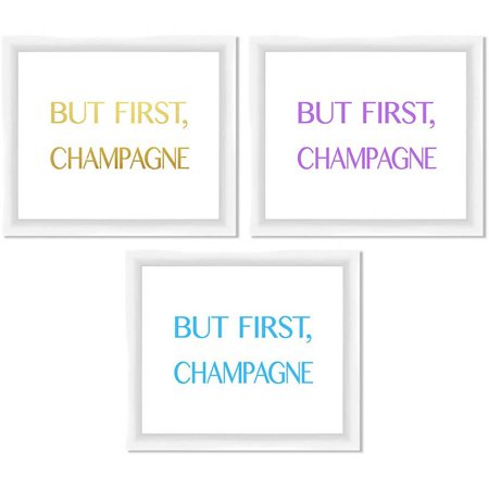 - But First Champagne 14X12 Wall Art