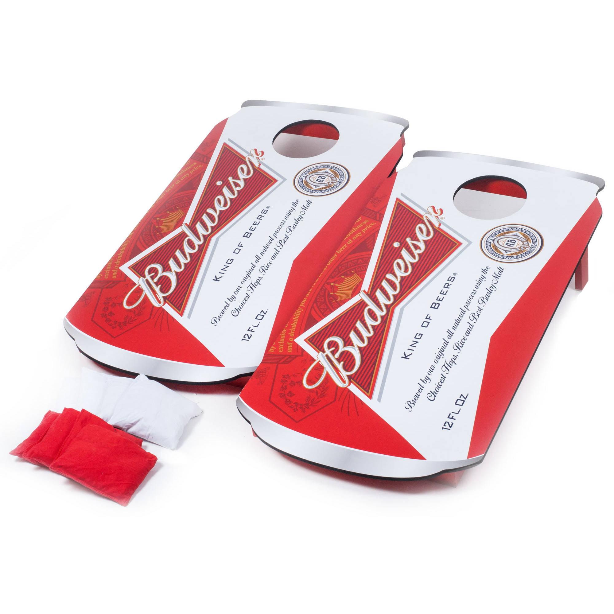 Budweiser Can Cornhole Beanbag Toss Game by Trademark Global LLC