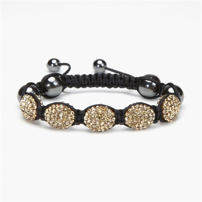 Alexander Kalifano Oval Shamballa Bracelet