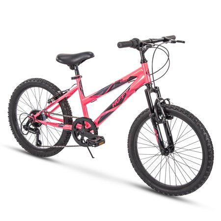 Huffy Kids Hardtail Mountain Bike for Girls, Summit Ridge 20 inch 6-Speed Solar Flare 6 Speeds 20 inch (Best Hardtail For 500)