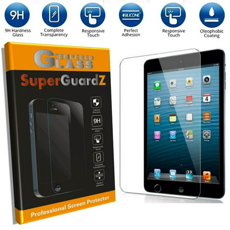 For iPad 4 / 3 / 2 - SuperGuardZ Tempered Glass Screen Protector [9H, Anti-Scratch, Anti-Bubble, Anti-Fingerprint] + 4-in-1 Stylus Pen w/ LED