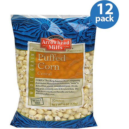 Arrowhead Mills Puffed Corn Cereal, 6 oz, (Pack of 12) Arrowhead Mills Hot Cereal