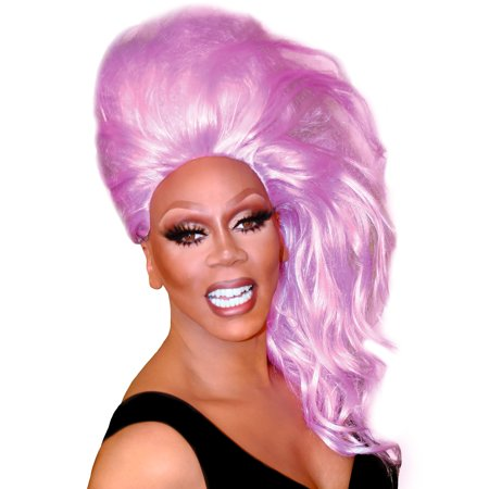 Party City RuPaul Lavender Bouffantastic Wig, Halloween Costume Accessories, One Size, 20