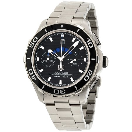 Aquaracer Silver Dial - Tag Heuer Aquaracer Black Dial Stainless Steel Men's Watch CAK211A.BA0833