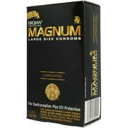 Trojan Condom Magnum Large Size Lubricated 12 Pack