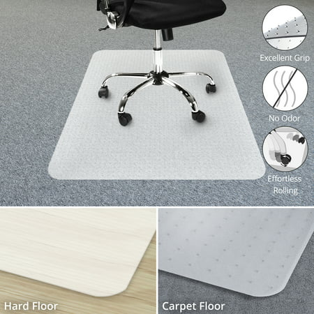 Office Chair Mat for Carpet Floor | Opaque Office Floor Mat | BPA, Phthalate and Odor Free | Multiple Sizes available - 36