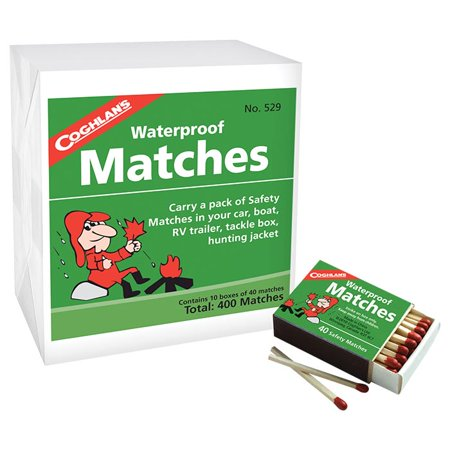 Waterproof Matches 10 Boxes - COGHLANS