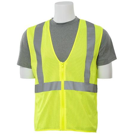 S363 Mesh ANSI Class 2 Zippered Vest in Hi-Viz Lime, 3X